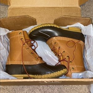 "LL Bean 8"" Duck Boots Brown size 5"